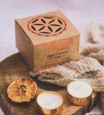 10 g. Nagpuri Narangi - Orange Organic Goodness Tea Light Candle in Metal Capsule (Set  of 12)