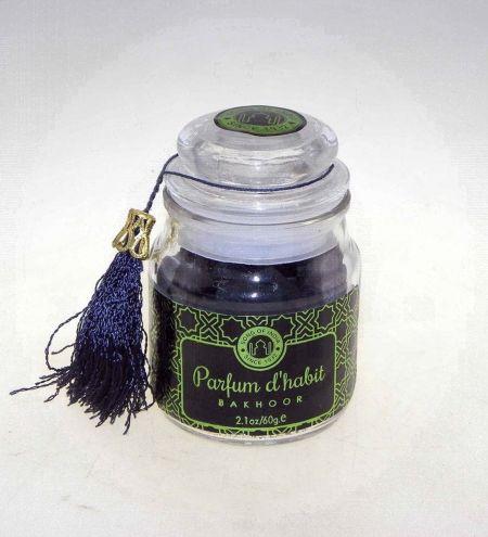 Parfum d'habit Bakhoor Bar in Glass Jar with Tassel
