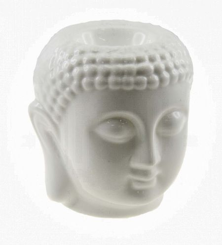 White Buddha Electric Bulb Ceramic Burner