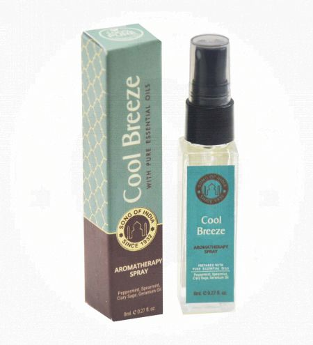 Cool Breeze Aromatherapy Spray in Square Bottle