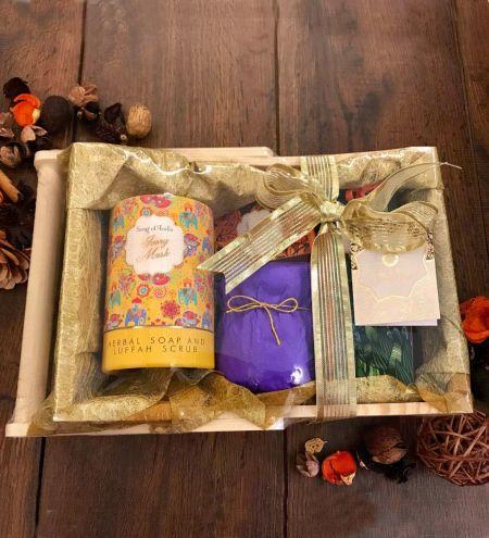Little Pleasures Pinewood Gift Tray