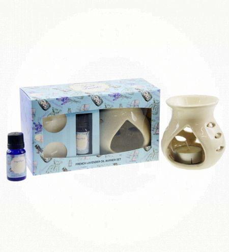 French Lavender Aroma Burner Set