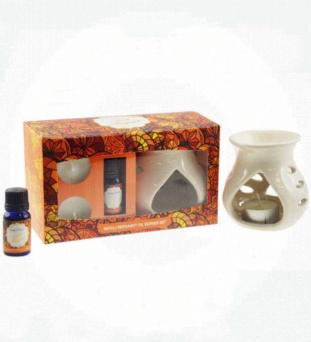 Neroli Bergamot Aroma Burner Set