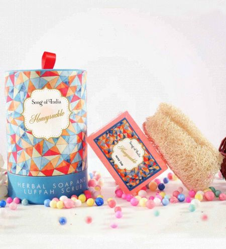 Honeysuckle Handmade Glycerin Soap with Luffah