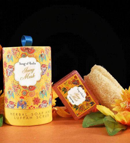 Ivory Musk Handmade Glycerin Soap with Luffah