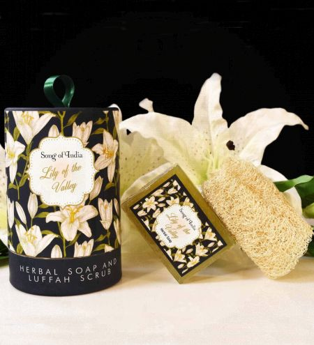 Lily of the Valley Handmade Glycerin Soap with Luffah