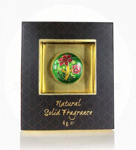 Honeysuckle Solid Perfume in Brass Cloisonne Jar