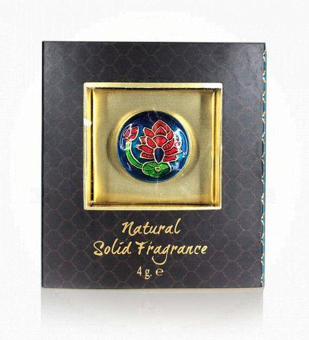 Neroli Bergamot Solid Perfume in Brass Cloisonne Jar