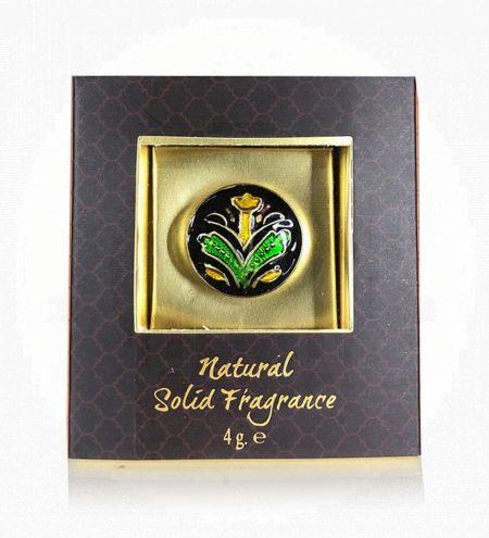Sandalwood & Vetiver Solid Perfume in Brass Cloisonne Jar