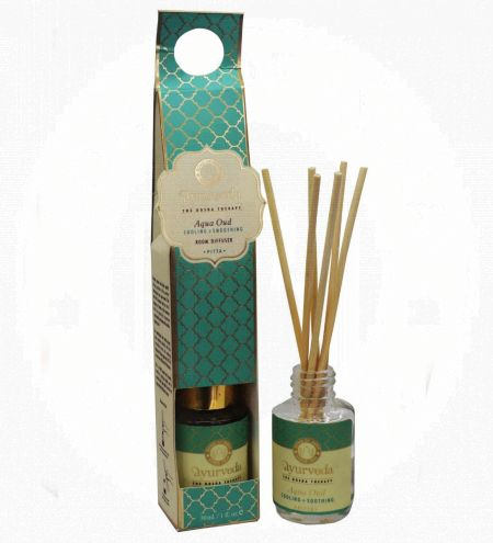 Aqua Oud Luxurious Veda Reed Diffuser in Round Glass Bottle