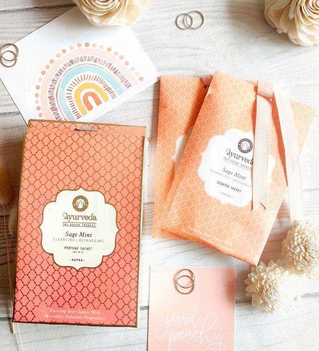 Sage Mint  Potpourri Perfume Hanging Sachet (Set of 4)