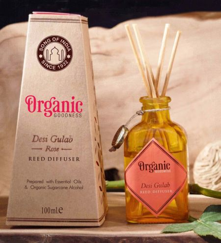 Desi Gulab - Rose Organic Ambience Diffuser with Reeds