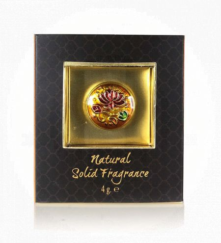 Lily of the valley Solid Perfume in Brass Cloisonne Jar