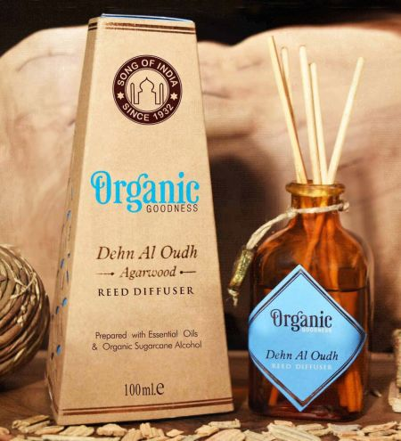 Dehn Al Oudh - Agarwood Organic Ambience Diffuser with Reeds