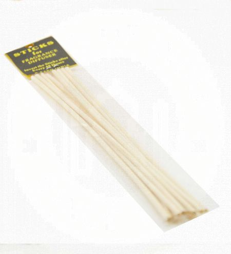 8 Rattan Reed Sticks in Clear Pack