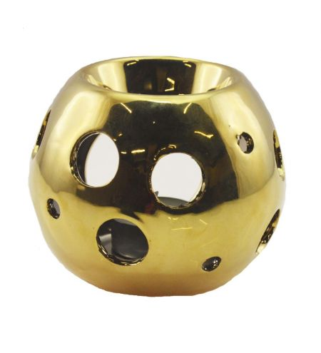 Spherical Gold Ceramic Burner with Circle Holes