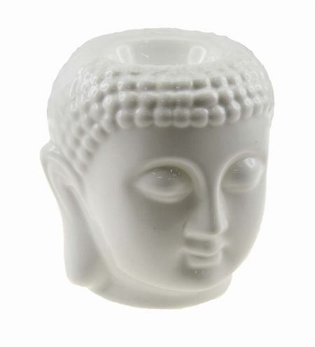 White Buddha Electric Bulb Ceramic Burner