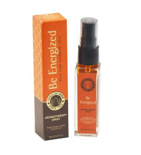 Be Energized Aromatherapy Spray in Square Bottle
