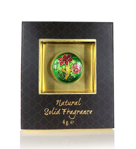 Honeysuckle Solid Perfume in Brass Cloisonne Jar