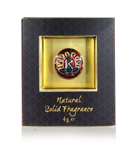 Indian Summer Solid Perfume in Brass Cloisonne Jar