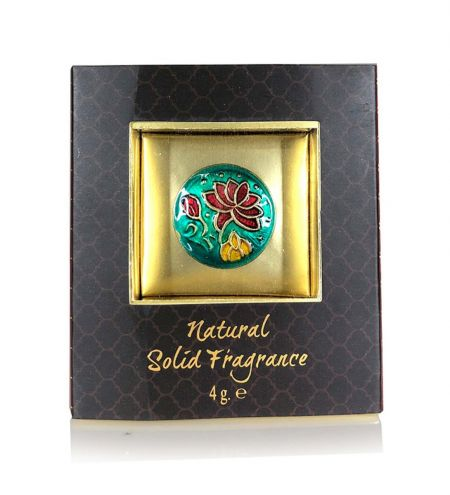 Love Solid Perfume in Brass Cloisonne Jar