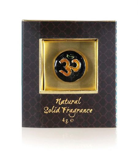 Patchouli Noir Solid Perfume in Brass Cloisonne Jar
