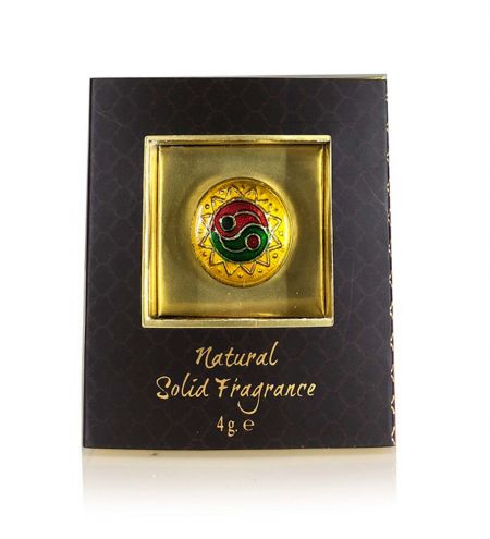Relax Solid Perfume in Brass Cloisonne Jar