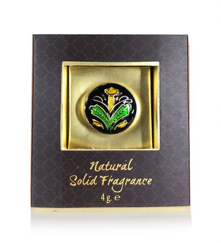 Sandalwood & Vetiver Solid Perfume in Brass Cloisonne Jar
