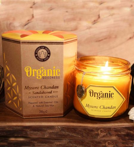 Mysore Chandan - Sandalwood Creamy Organic Soy Wax & Beeswax Candles