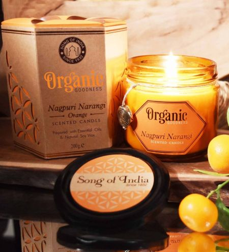Nagpuri Narangi - Orange Creamy Organic Soy Wax & Beeswax Candles