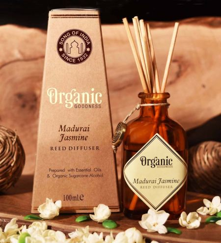 Madurai Jasmine Organic Ambience Diffuser with Reeds