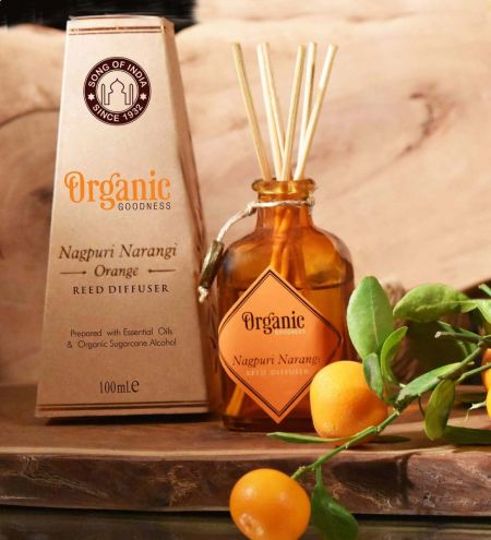 Nagpuri Narangi - Orange Organic Ambience Diffuser with Reeds