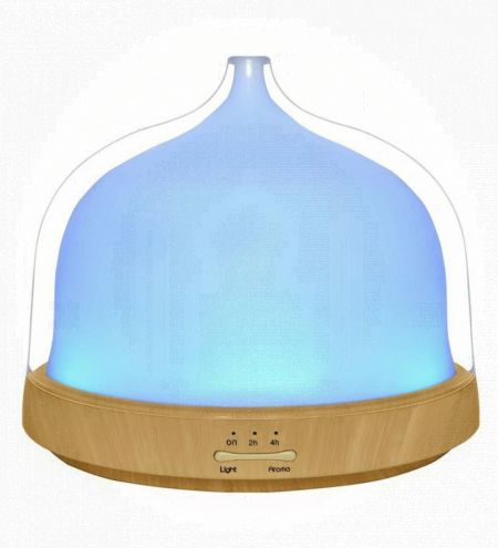 Clear Bell Shaped Ultrasonic Diffuser & Wooden Base