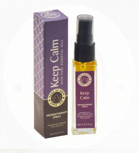 Keep Calm Aromatherapy Spray in Square Bottle