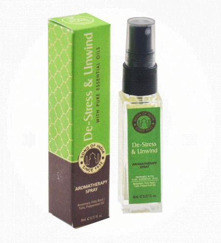 De-Stress & Unwind Aromatherapy Spray in Square Bottle