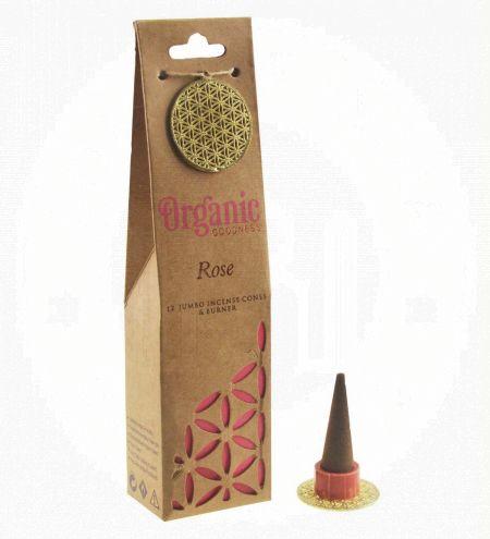 Rose Organic Incense Cones