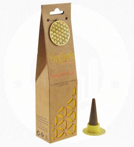 Sandalwood Organic Incense Cones
