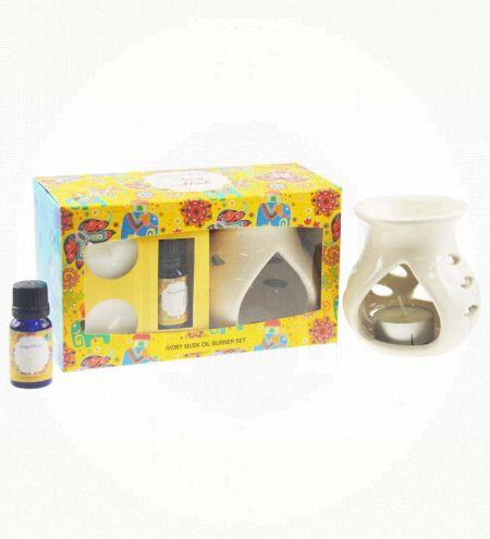 Ivory Musk Aroma Burner Set
