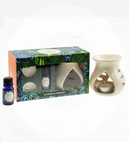 Sea Breeze Aroma Burner Set