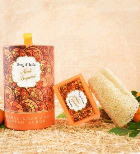Neroli Bergamot Handmade Glycerin Soap with Luffah