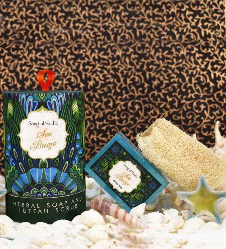 Sea Breeze Handmade Glycerin Soap with Luffah