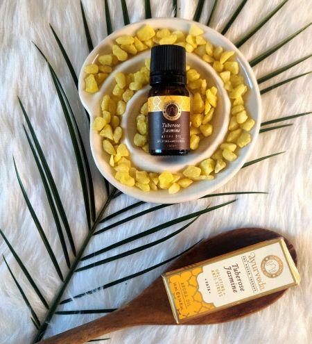 Tuberose Jasmine Luxurious Veda Aroma Oil