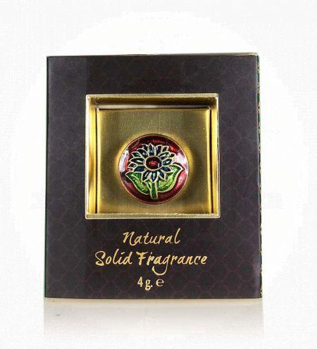 Ayurveda Solid Perfume in Brass Cloisonne Jar