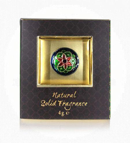 Jasmine Orient Solid Perfume in Brass Cloisonne Jar