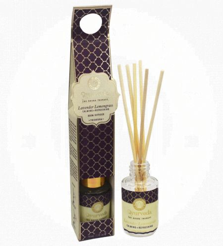 Lavender Lemongrass  Luxurious Veda Reed Diffuser in Round Glass Bottle