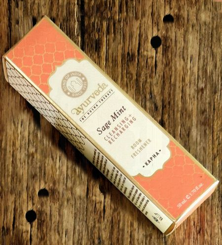 Sage Mint  Luxurious Veda Room Freshener  in Square Bottle