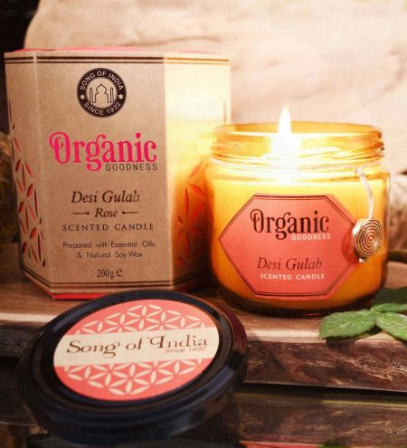 Desi Gulab - Rose Creamy Organic Soy Wax & Beeswax Candles