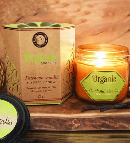Patchouli Vanilla Creamy Organic Soy Wax & Beeswax Candles