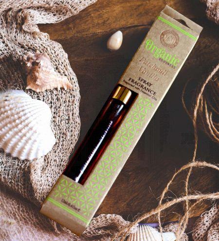 12ml. Patchouli Vanilla Organic Goodness Fragrance Spray with Gold Pump