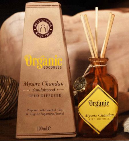 Mysore Chandan - Sandalwood Organic Ambience Diffuser with Reeds